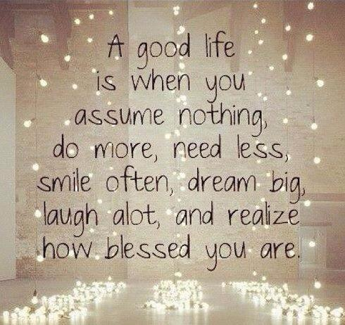 a good life - blesssed